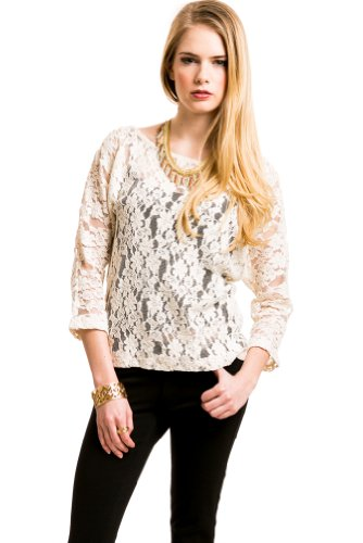 VIntage Floral Lace Blouse In Cream