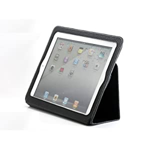 Bear Motion Synthetic Leather  Case  Folio with 3-in-1 built-in Stand for iPad 2 - Black