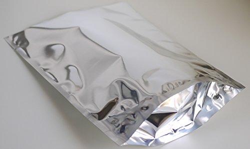 光沢 アルミ袋 アルミ蒸着袋 160X210X55mm ノッチ(切り込み)有 (100)