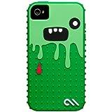 Case-Mate iPhone 4 CREATURES: Monsta Case, Dark Green / Green クリーチャーズ モンスタ シリコン ケース, ダークグリーン / グリーン CM015454