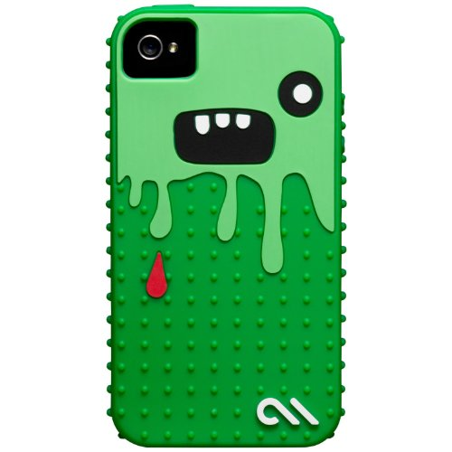 Case-Mate iPhone 4S / 4 CREATURES: Monsta Case, Dark Green / Green クリーチャーズ モンスタ シリコン ケース, ダークグリーン / グリーン CM015454