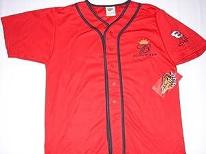 Dale Earnhardt Jr #8 NASCAR Dale Jr. Red Baseball Jersey Winner