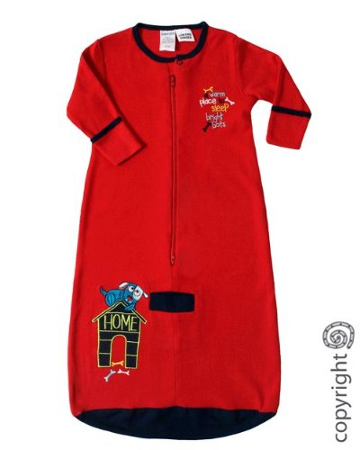 Bright Bots Jersey Cotton Longsleeve Sleeping Bag Red size 18-24 months