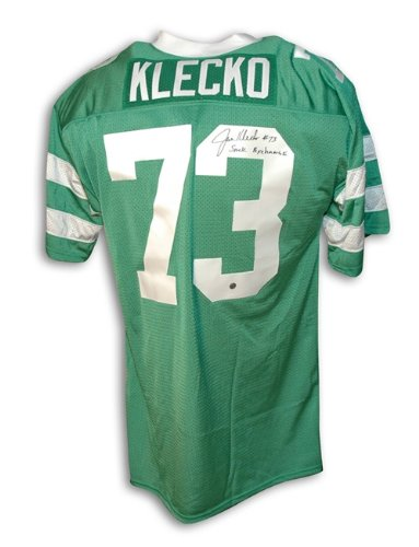 Joe Klecko Autographed/Hand Signed New York Jets Green Throwback Jersey Inscribed ''Sack Exchange'' at Amazon.com