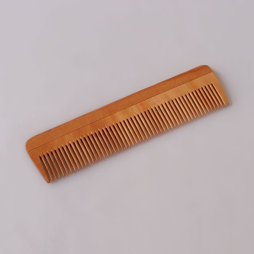 Handcrafted Neem Wood Comb - Anti Dandruff, Non-Static