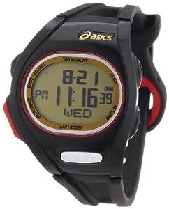 Asics Unisex Race CQAR0108 Black Polyurethane Quartz Watch with Digital Dial