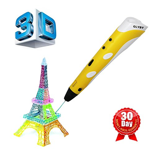 Glyby Intelligent 3D Printing Pen, 3D Drawing and Doodle Model Making Arts & Crafts Drawing , ABS Fibrous Material and Power Supply , Promote Children's Brain Development , Safety , Health , Eco-
