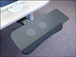 Systematix PSPLFSS21T Slimline Polymer Keyboard Platform With Slide-Through Platform & Lever Free Sit-Stand Arm