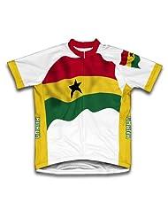 Ghana Flag Short Sleeve Cycling Jersey for Women