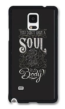 buy Phone Case Custom Samsung Note 4 Phone Case Soul Black Polycarbonate Hard Case For Samsung Note 4 Case