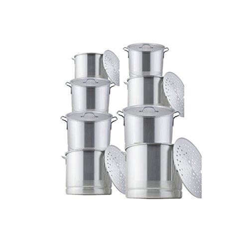 Heels Above 16-piece 8 Quart Aluminum Steamer Pot Set - Sanding Finish (40 Quart Tamale Steamer compare prices)
