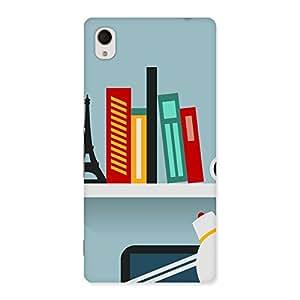 Enticing Creative Desk Multicolor Back Case Cover for Sony Xperia M4