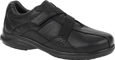 Oasis Women's Alana Hook & Loop Diabetic Shoes,Black,8.5 XW US (Black Oasis Shoes compare prices)
