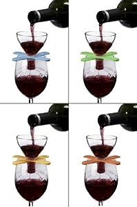 Metrokane Houdini Wine Shower On Glass Red Wine Aerator
