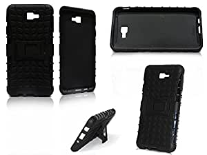 * COMBO * RUGGED TOUGH ARMOR CUM DEFENDER BACK CASE COVER STAND * TEMPERED GLASS SCREEN PROTECTOR * FOR SAMSUNG GALAXY ON NXT