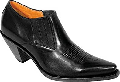 Charlie 1 Horse by Lucchese Women's I6003,Black Calf,US 4 M