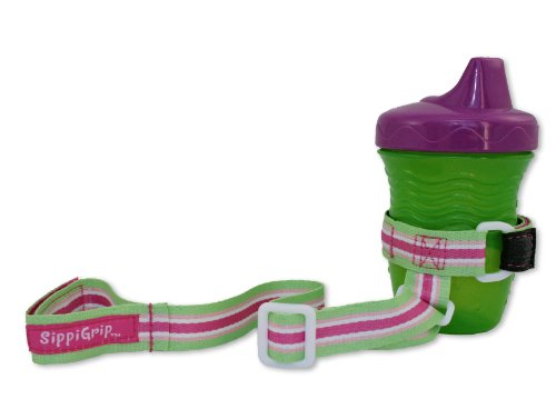 BooginHead SippiGrip, Pink/Green/White (Discontinued by Manufacturer)