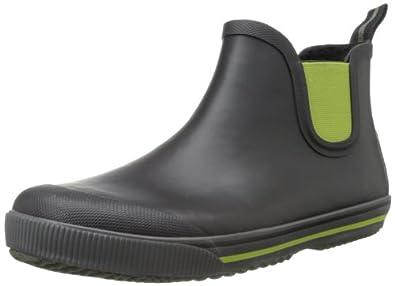 Tretorn Men's Strala Vinter Rain Boot,Black/Dark Citron,39 EU/7 D US