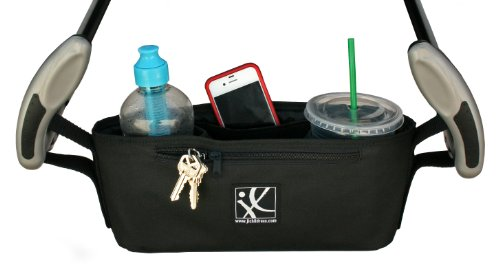 J.L. Childress Cargo 'N Drinks Parent Tray, Black - 1