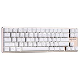 Qisan Gaming Keyboard Mechanical keyboard Backlit Wired Keyboard Blue Switch 68-Keys Mini Design (60%) Come with Free Data OTG Cable White Golden Magicforce
