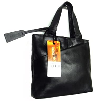 Small Black Leather Handbag Bag.