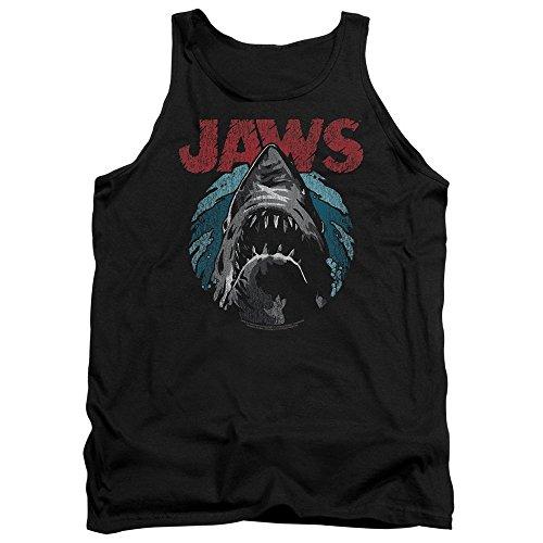 Jaws Spielberg Thriller Movie Cartoon Sketched Shark Attack Adult Tank Top Shirt