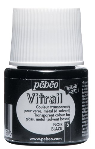 Pebeo Vitrail Stained Glass Effect Glass Paint 45-Milliliter Bottle, Black