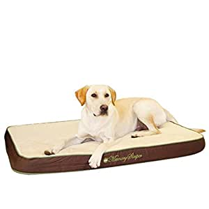 K&H Manufacturing Memory Sleeper Large Mocha 29-Inch by 45-Inch