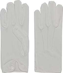 Morris Costumes BA03MD Gloves Men Nylon W Snap White