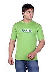 Martin Smith Green Round Neck T- Shirt For Men