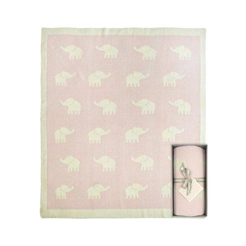 Weegoamigo - Knitted Travel Blanket - Stampede Pink - 1
