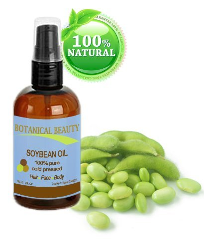 Botanical Beauty Soybean Oil, 100% Pure, Cold Pressed.. 2 Oz-60 Ml