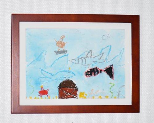 Li'l Davinci 9 x 12 inch Art Frame, Cherry (Picture Frames Lil Davinci compare prices)