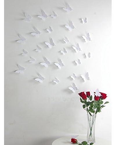 Ambiance Live Vinile Decorativo 12 pezzi 3D Butterflies