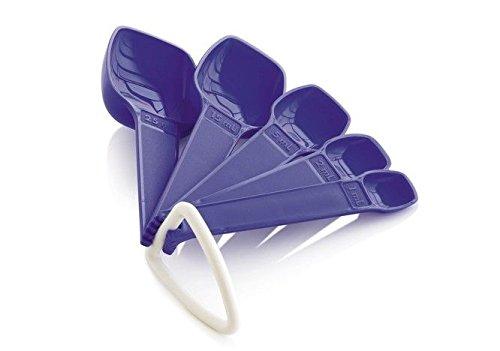 Tupperware - Lot de Cuillères mesures petites (5) - Bleu/Violet