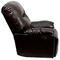 Hot Sale Flash Furniture Contemporary Bentley Brown Leather Chaise Power Recliner
