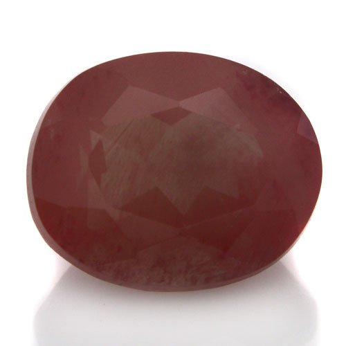 Natural Africa Red Andesine Loose Gemstone Oval Cut 10*8mm 2.80cts SI Grade