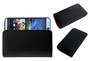 Acm Rich Leather Soft Case For Htc Desire Eye Mobile Handpouch Cover Carry Black