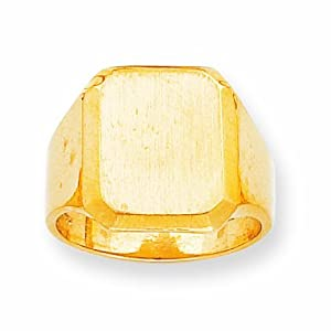 14k Mens Signet Ring