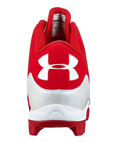 pictures of Under Armour Men s UA Leadoff Mid RM Baseball Cleats 11 Red 0ef52177969