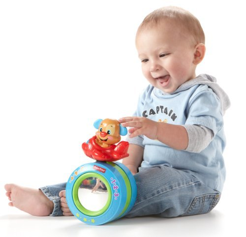 Fisher-Price Laugh & Learn Puppy's Crawl-Along Ball - 1