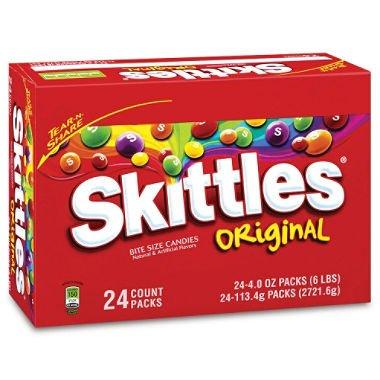 Original Fruit Skittles King Size - 4 oz. - 24 ct. (Fruit King compare prices)