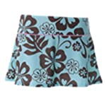 Platypus Sun Protection Flirty Skirt Hibiscus Flowers Mint and Cocoa 14 to 15 years