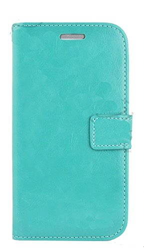 Mylife Turquoise Blue {Exquisite Design} Faux Leather (Card, Cash And Id Holder + Magnetic Closing) Slim Wallet For The All-New Htc One M8 Android Smartphone - Aka, 2Nd Gen Htc One (External Textured Synthetic Leather With Magnetic Clip + Internal Secure