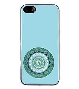 iFasho Modern Art Om design pattern in kundli Back Case Cover for Apple iPhone 5