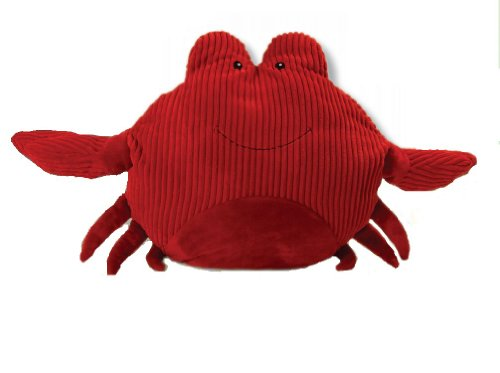 Red Corduroy Plush Crab by The Petting Zoo
