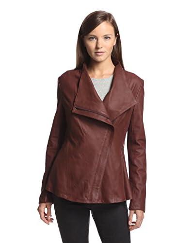 Elie Tahari Women's Constance Peplum Leather Jacket