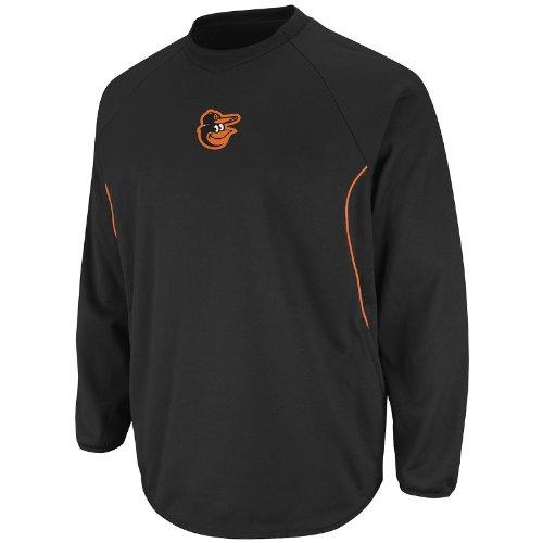 Mlb Baltimore Orioles Therma Base Tech Fleece, Medium, Black/Orange front-921890