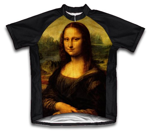 Mona Lisa Short Sleeve Cycling Jersey For Women - Size M