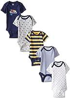 Gerber Baby Boys' Five-Pack Variety Bodysuits